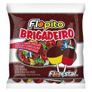 Pirulito Flopito brigadeiro Florestal 600g.