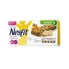 Barra de cereais integral  banana, aveia e mel Nesfit ( cx c/ 3 unidades).