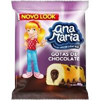 Bolo gotas de chocolate Ana Maria Pullman 80g.
