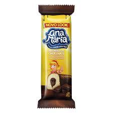 Bolinho Ana Maria banana com chocolate 35g.