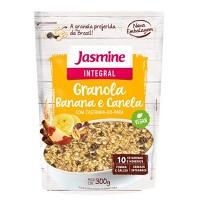 Granola integral grain flakes Jasmine banana e canela 300g.