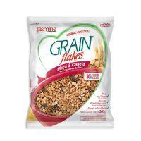Granola grain flakes Jasmine maçã e canela 300g.