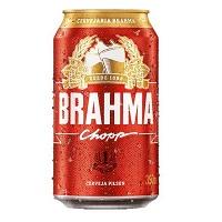 Cerveja Brahma lata 350ml.