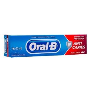 Creme dental anti cáries Oral B 123 70g