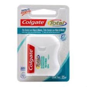 Fita dental Colgate total 12 fluor 25mts.