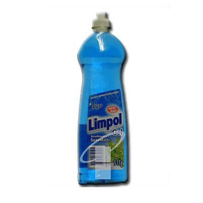 Lava louças gel Limpol algas 511g.