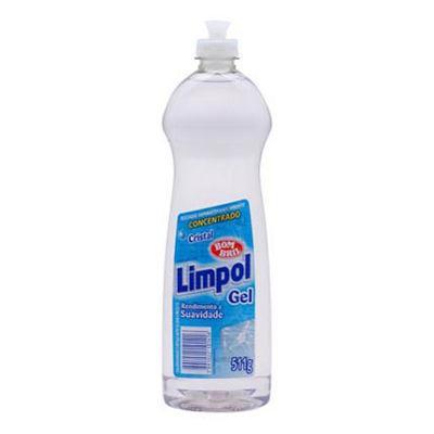Lava louças gel Limpol cristal 511g.