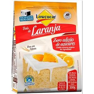Mistura para bolo de laranja zero açúcar Lowçucar 300g.