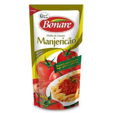Molho de tomate com manjericão Bonare 340g