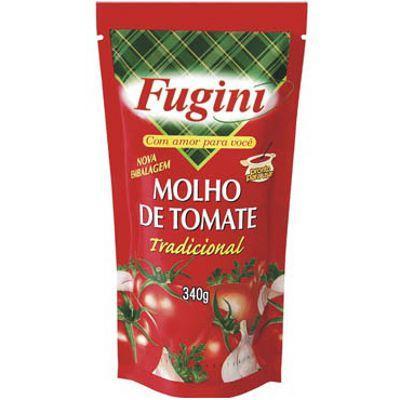 Molho de tomate tradicional Fugini sachê 340g.