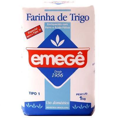 Farinha de trigo Emegê 1kg.