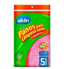 Pano multiuso rosa  Alklin  (5 unid.)