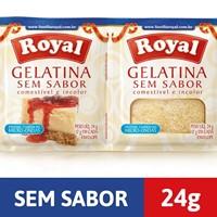 Gelatina sem sabor incolor Royal 48g.
