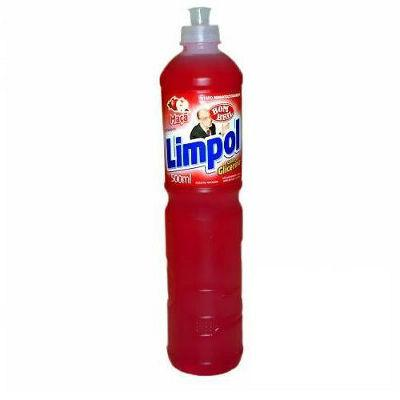 Detergente liquido maçã Limpol 500ml.