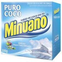 Sabão em pó Minuano puro coco 500g.