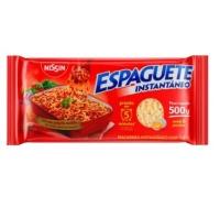 Espaguete instantâneo Nissin 500g.