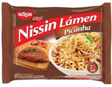 Macarrão instantâneo Nissin picanha 85g.