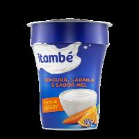 Iogurte cenoura, laranja e mel Itambé 170g.