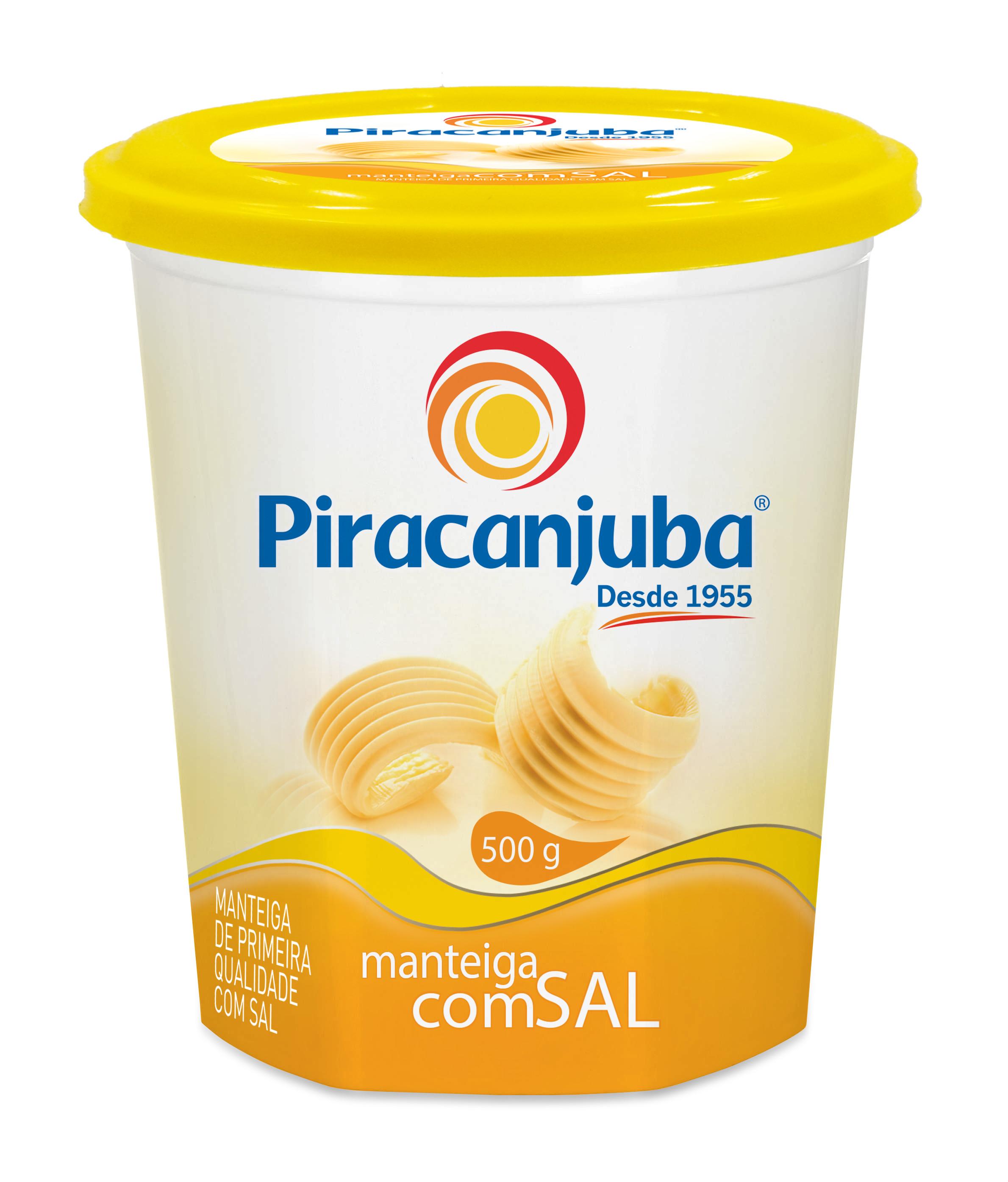 Manteiga com sal Piracanjuba pote 500g.