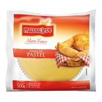 Massa fresca de pastel discão Massa Leve (grande)  500 gr.
