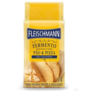 Fermento biológico seco instantâneo Fleischmann 125g