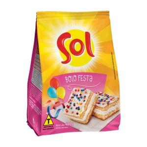 Mistura para bolo de festa Sol 400g.