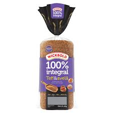 Pão 100% integral Teff e avelã Wickbold  400g