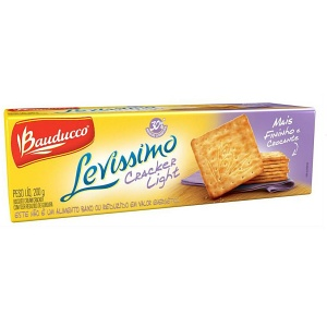 Biscoito cracker light Levíssimo Bauducco 200g.