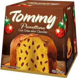 Panettone gotas de chocolate Tommy 400g