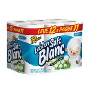 Papel higiênico folha simples Leblon Soft Blanc (12 unid.)