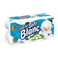 Papel higiênico folha simples Leblon Soft Blanc (8 unid.)