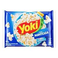 Pipoca de micro ondas sabor manteiga Yoki 100g.
