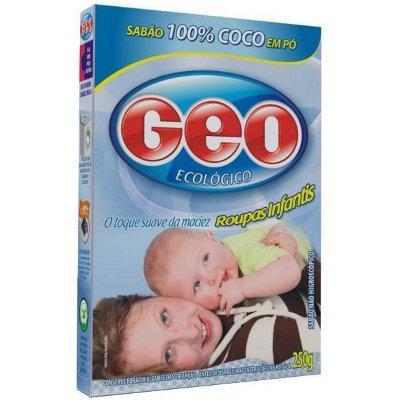 Sabão de coco em pó Geo roupas infantis 250g.