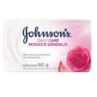 Sabonete Johnson's Daily Care rosas e sândalo 80g