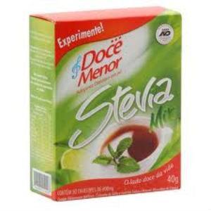 Adoçante sacarina stevia mix Doce Menor sache 50 x 0,8 gr.