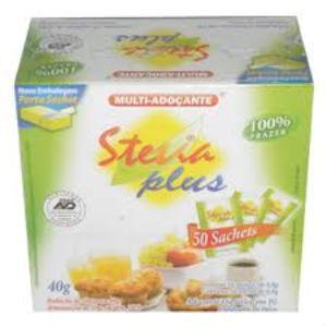 Adoçante Stevia Plus Sachê 50x08 gr.