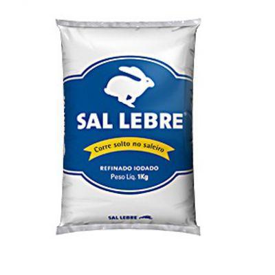 Sal refinado marinho Lebre 1kg.