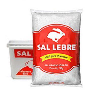 Sal grosso marinho p/ churrasco Lebre 1kg.