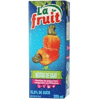 Suco pronto de caju La Fruit 200ml.