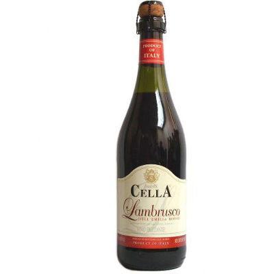 Vinho frizante Lambrusco  Cella tinto doce