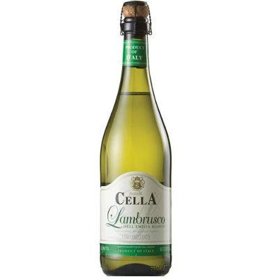 Vinho frizante Lambrusco Cella branco doce