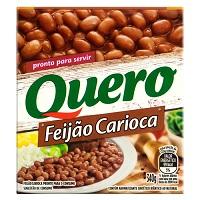 Feijão carioca Quero Tetra Pak 340g.