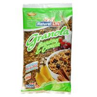 Granola sabor Banana e Canela  Natural Life 300g