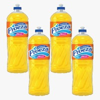 Detergente líquido neutro Proeza 500ml (pacote c/ 4 unidades)