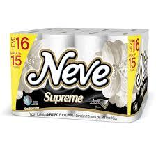 Papel higiênico folha tripla Supreme Neve 16x1