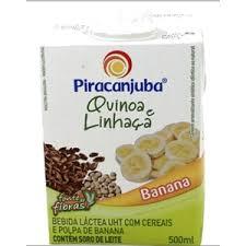 Bebida láctea quinoa, linhaça e chia sabor banana Piracanjuba 500ml.