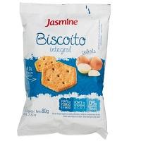 Biscoito snack integral salgado de cebola Jasmine 80g