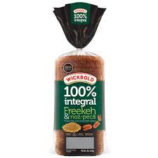 Pão 100 % integral Freekeh e noz pecã wickbold 400g