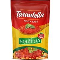 Molho de tomate Tarantella sabor manjericão sachê 340g.