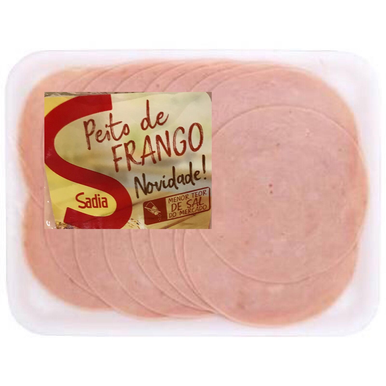 Peito de frango fatiado Sadia 100g